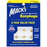 Mack's Pillow Soft Silicone Earplugs - 6 Pair, Value Pack – The Original Moldable Silicone Putty Ear Plugs for Sleeping, Snor
