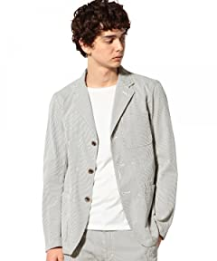 Seersucker Work Jacket 3225-139-1893: Olive