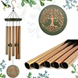 """ASTARIN Wind Chimes Outdoor Deep Tone,36""""Large Memorial Wind Chimes Amazing Grace with 5 Tuned Metal Tubes,Sympathy Wind Chim"""