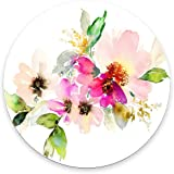 Beautiful Watercolor Flower Round Mouse pad Customized Non Slip Rubber Round Mouse pad Non Slip Rubber Mouse pad Gaming Mouse