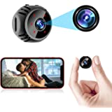 ORHIDAM Mini Spy Camera Wireless Hidden Nanny Cam WiFi Baby Monitor 1080P HD Home Security Indoor Video Recorder with Live Fe