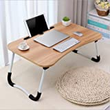 Laptop Desk Bed Tray Portable Notebook Computer Stand Foldable Lazy Lap Desk for Breakfast Serving, Reading Writing on Bed Co