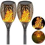 Solar Light Outdoor Dancing Flickering Flames Torches Lights Waterproof 96 LED Lantern Wireless Lighting Lamp for Garden Path
