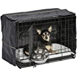 iCrate Dog Crate Starter Kit | 22-Inch Dog Crate Kit Ideal for XS Dog Breeds Weighing Up to 12 Pounds | Includes Dog Crate, P