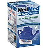 NeilMed NasaFlo Unbreakable Neti Pot with 60 Premixed Packets