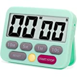 Quickloong Kitchen Timer, Digital Countdown Timer, Loud and Mute Optional, Magnet LCD Display, Count Up and Down Timer for Ki
