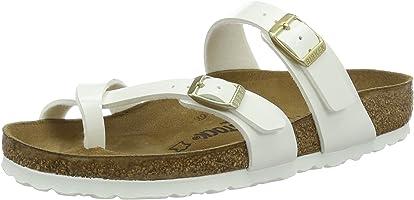 Birkenstock Mayari Regular Fit - Patent White 1005280 (Man-Made) Womens Sandals 37 EU
