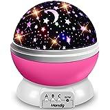 Moredig Star Projector Night Light, Starry Ceiling Night Light Projector 360 Degree Rotating Light Projector with 8 Color Lig