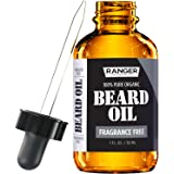 Fragrance Free Beard Oil & Leave In Conditioner, 100% Pure Natural for Groomed Beards, Mustaches.