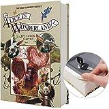 Real Paper Diversion Book Safe storage box, dictionary secret safe with code lock/key, flip book hidden safe (M Key, Alice)