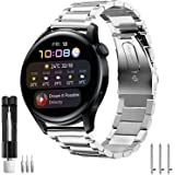 VICARA バンド Compatible with Huawei Watch 3/3 46mm/3 Pro/GT/GT2 Pro/GT2e 46mm/GT2 46mm バンド ステンレス製 22mm ファーウェイ ウオッチ3 交換用 ベルト 調整工