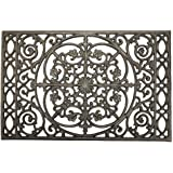 "Sungmor Heavy Duty Cast Iron Doormat,22"" x 14.4"" Rectangle with Vintage & Rustic Pattern Design,Decorative Mat and Shoe Scrap"