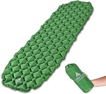 エアーマット Hikenture® キャンピングマット キャンプ・寝袋用エアマット 登山エアーマット 厚さ 5.5cm コンパクト 超軽量 徒歩・アウトドア・レジャー・バイクツーリングなどに適用 ピロー付きとなし