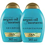 OGX Renewing + Argan Oil of Morocco Shampoo & Conditioner Set, 13 Ounce (packaging may vary), Blue