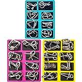Bestmaple 脳の体操 メタルワイヤー IQパズル ゲーム マジックトリック玩具 知育玩具 大人 子供 学生 拡張 知育玩具 24個セット