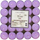 Cocod'or Scented Tealight Candles 100 Pack, Garden Lavender, 5-8 Hour Extended Burn Time, Made In Italy
