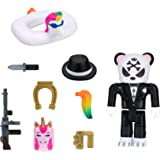 Roblox Avatar Shop Series Collection - Rare Complicated Unicorn Gangster Panda Figure Pack [Includes Exclusive Virtual Item]