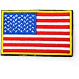 ShowPlus America USA US Flag Patch Military Embroidered Tactical Patch Morale Shoulder Applique