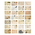 Vintage Theme Postcard Set 30 Cards DIY Postcards Gift Message Card Paper Bookmark for Worth Collecting