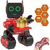 OKK ロボットおもちゃ子供用 子供のためのリモートコントロールおもちゃロボット タッチ&サウンドコントロール 歌い、踊り、話し、そして物事を届けることができる充電式RCリモートコントロールロボット 子供の誕生日プレゼントやホリデープレゼントとしても