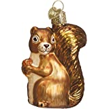 Old World Christmas Ornaments: Squirrel Glass Blown Ornaments for Christmas Tree