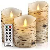 "comenzar Flameless Candles, Led Candles Set of 9(H 4"" 5"" 6"" 7"" 8"" 9"" xD 2.2"") Ivory Real Wax Battery Candles with Remote Time"