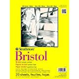 (23cm by 30cm ) - Strathmore STR-342-9 20 Sheet Smooth Bristol Pad, 23cm by 30cm