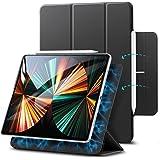 ESR iPad Pro 12.9 ケース 第五世代 5G 2021年モデル 磁気吸着 Apple Pencilのペアリングと充電に対応 オートスリープ ウェイク スリム 軽量 シルク手触り 三つ折りスタンド リバウンドマグネティックスマートケース(