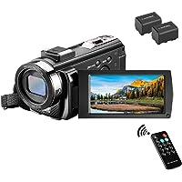 ビデオカメラ Rosdeca デジタルビデオカメラ 2400万画素 HD 1080P 30FPS 16倍デジタルズーム…