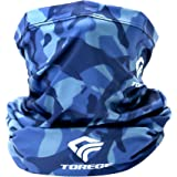 TOREGE Neck Gaiter Breathable Face Cover with Lycra Fabric,UV-Protection Gator Mask Scarf for Men & Women