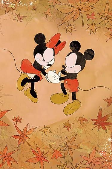 ディズニー  iPhone/Androidスマホ壁紙(640×960)-1 - 紅葉に囲まれたミッキーとミニー