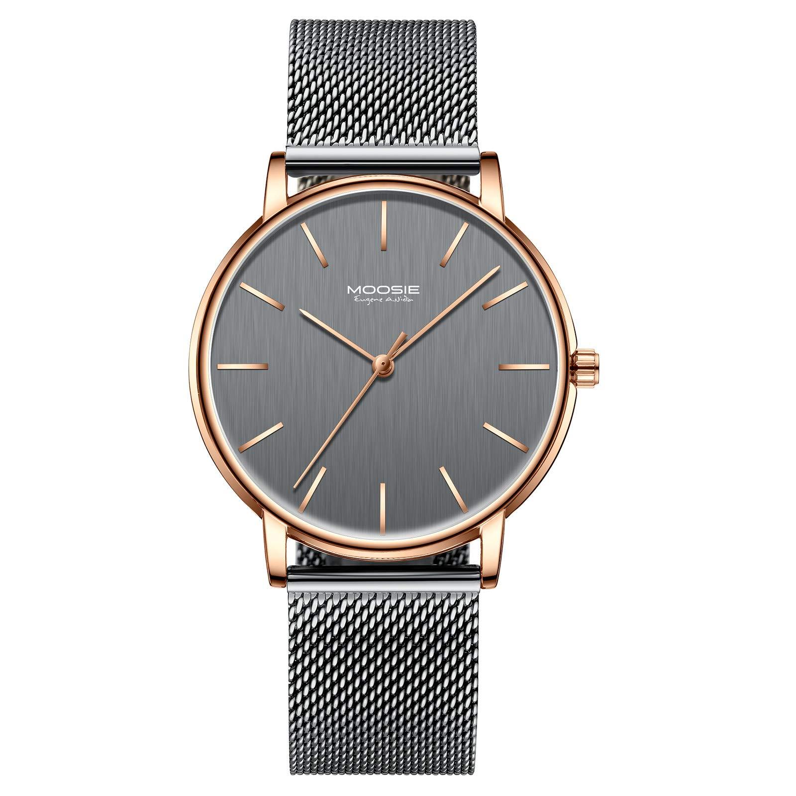 79aa3df19a 腕時計、メンズ腕時計 シンプル ビジネス ファッション 超薄型 軽量 ダークブルー グレー ローズゴールド 防水 腕時計 アナログ クォーツ時計  ミニマリスト
