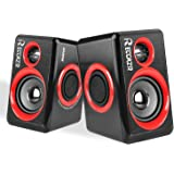 Computer Speakers With Surround Subwoofer Heavy Bass USB Wired Powered Multimedia Speaker for PC/Laptops/Smart Phone RECCAZR