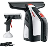 Bosch GlassVAC Cordless Window Vac Solo Plus (Window Vac + 266 mm Blade Head and Spray Applicator with Microfibre Cloth)