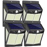 Enkman Solar Lights Outdoor [4 Pack/3 Modes/140 LEDs] Wireless Motion Sensor Ooutdoor Lights with Wide Angle IP65 Waterproof