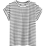 Floerns Women's Short Sleeve Striped Tops Summer Casual Tunic Tee T Shirts