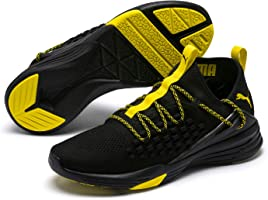 PUMA Men's Mantra Sneaker, Black-Blazing Yellow