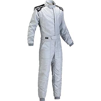 50サイズ レッド// レーシングスーツ CIK-FIA ホワイト LEVEL-2公認 OMP KS-3 SUIT