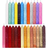 Anezus 26Pcs Antique Sealing Wax Sticks with Wicks for Postage Letter Retro Vintage Wax Seal Stamp, Assorted Colors