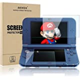 (4-Pack) Screen Protector for Nintendo 3DS XL, Akwox HD Clear Crystal PET Screen Protective Filter for Nintendo 3DS XL with A