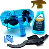 Ultrafashs Bike Chain Cleaning Set Includes Degreaser,Chain Scrubber,Gear Brush,Gloves.Degreaser Biodegradable-10oz