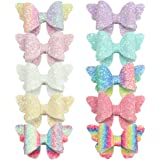 XIMA 10pcs Glitter Hair Bows Clips For Kids Girls Butterfly Hair Pin Accessoires Sparkly Bows Clips