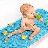 Upgrade Non Slip Bath Mat for Tub Extra Long Bathtub Mat for Kids 40 X 16 Inch - Eco Friendly Bath Shower Mat with 200 Big Su