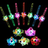 wellvo Party Favors for Kids 14 Pack Light Up Bracelets Glow in The Dark Party Supplies Girls Boys Kid Birthday Goodie Bags R