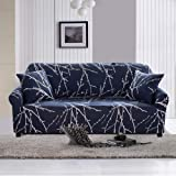 "Geecol Printed Sofa Cover Stretch Fabric Couch Cover Sofa Slipcovers Protector(70""-90"" Sofa, Tree Branch)"
