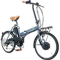 AIJYU CYCLE 折りたたみ電動アシスト自転車 パスピエ20R シマノ6段ギア 20インチ 5Ahリチウムイオンバッテリー 型式認定車両(TSマーク) (グレー)