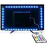 TV-LED-Backlight,Maylit Pre-Cut 14.3ft LED Strip Lights for 65-75in TV,4PCS USB Powered TV Lights kit with Remote,RGB Bias Li