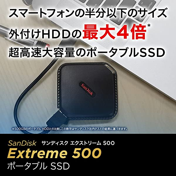SanDisk エクストリーム500 ポータブルSSD250GB [国内正規品] SDSSDEXT-250G-J25