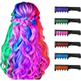 New Hair Chalk Christmas Temporary Bright Hair Colour for Girls Kids,Washable Hair Chalk Comb for Girls Age 4 5 6 7 8 9 10+Ch