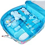 Baby Grooming kit Set Infant Baby Grooming Tools Newborn Manicure Set Baby Healthcare Nail Clippers Hairbrush Tool Set(13PCS)